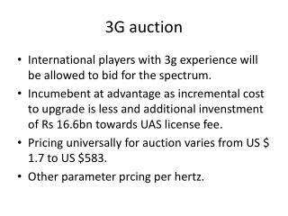 3G auction