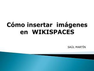 Cómo insertar  imágenes en   WIKISPACES