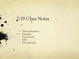 2.19 Class Notes