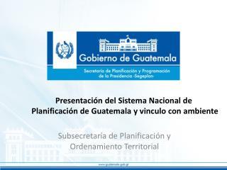 Subsecretaría de Planificación y Ordenamiento Territorial