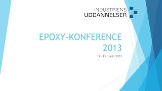 EPOXY-KONFERENCE 2013