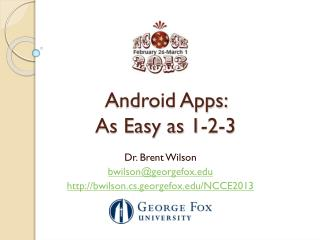 Android Apps:  As Easy as 1-2-3