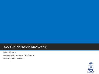 Savant Genome Browser