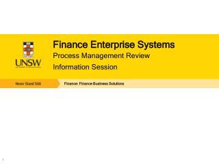 Finance Enterprise Systems