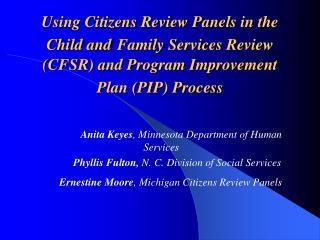 Anita Keyes , Minnesota Department of Human Services