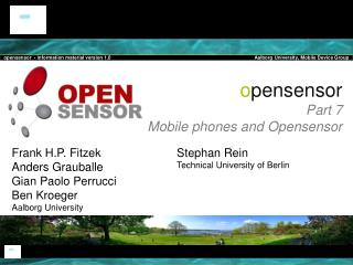 o pensensor  Part  7 Mobile phones and Opensensor