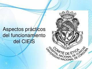 Aspectos prácticos del funcionamiento del  CIEIS