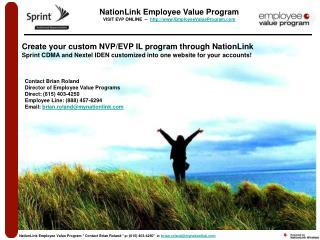 NationLink Employee Value Program VISIT EVP ONLINE  --   EmployeeValueProgram