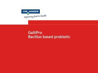 GalliPro Bacillus based probiotic
