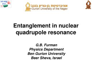Entanglement in nuclear quadrupole resonance
