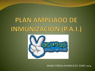 PLAN AMPLIADO DE INMUNIZACION (P.A.I.)