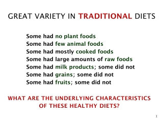 FIRST PRINCIPLE No refined or denatured foods
