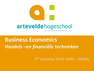 Business  Economics Handels �en financi�le technieken