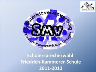 Schülersprecherwahl  Friedrich-Kammerer-Schule 2011-2012