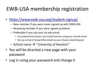 EWB-USA membership registration