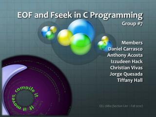 EOF and  Fseek  in C Programming Group #7