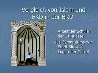 Vergleich von Islam und     EKD in der BRD