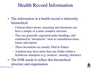 Health Record Information