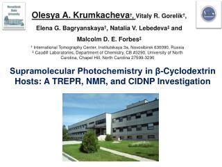 Supramolecular Photochemistry in β-Cyclodextrin Hosts: A TREPR, NMR, and CIDNP Investigation