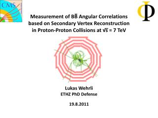 Measurement of BB Angular Correlations  based on Secondary Vertex Reconstruction