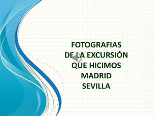 FOTOGRAFIAS DE LA EXCURSI�N QUE HICIMOS  MADRID SEVILLA