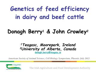 Genetics of feed efficiency in dairy and beef cattle