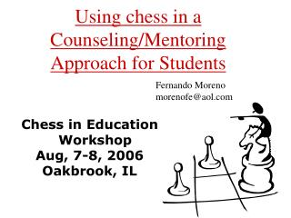 Using chess in a Counseling