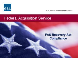 FAS Recovery Act Compliance
