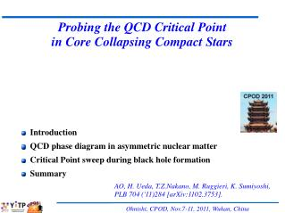 Probing the QCD Critical Point in Core Collapsing Compact Stars
