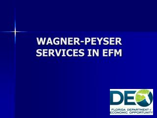 WAGNER-PEYSER SERVICES IN EFM