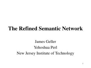 The Refined Semantic Network
