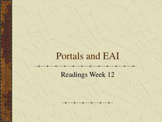 Portals and EAI