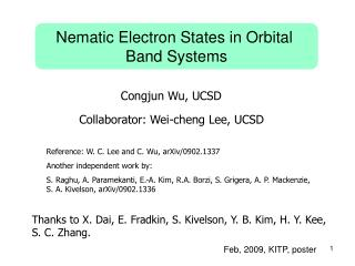 Nematic Electron States in Orbital  Band Systems
