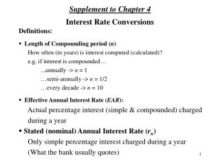 Interest Rate Conversions