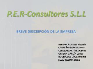 P.E.R-Consultores S.L.L