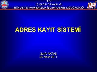 ADRES KAYIT SİSTEMİ