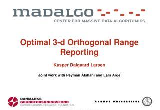 Orthogonal Range Reporting