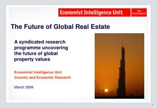 The Future of Global Real Estate