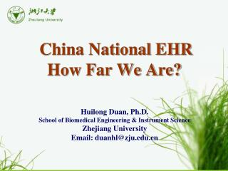 China National EHR How Far We Are?