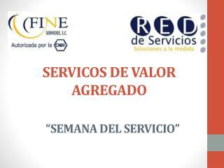 SERVICOS DE VALOR AGREGADO