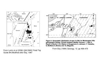 From Lentz et al (2006) GAC/MAC Field Trip  Guide B4,Modified after Eby, 1987
