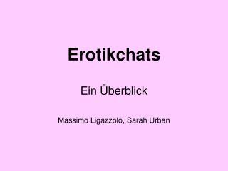 Erotikchats   Ein  berblick  Massimo Ligazzolo, Sarah Urban