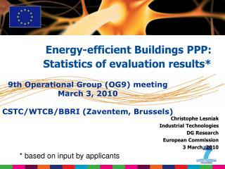 Christophe Lesniak Industrial Technologies DG Research   European Commission 3 March, 2010