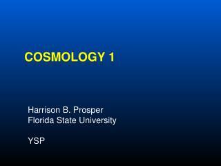 Cosmology 1