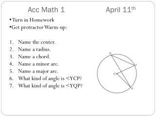 Acc Math 1   April 11 th