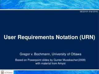 User Requirements Notation URN