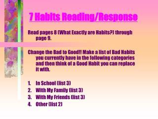 7 Habits Reading/Response