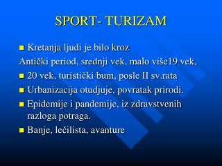SPORT- TURIZAM