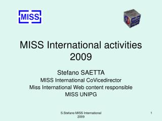 MISS International activities 2009