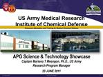 US Army Medical Research  Institute of Chemical Defense